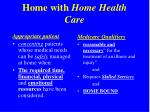 home with home health care