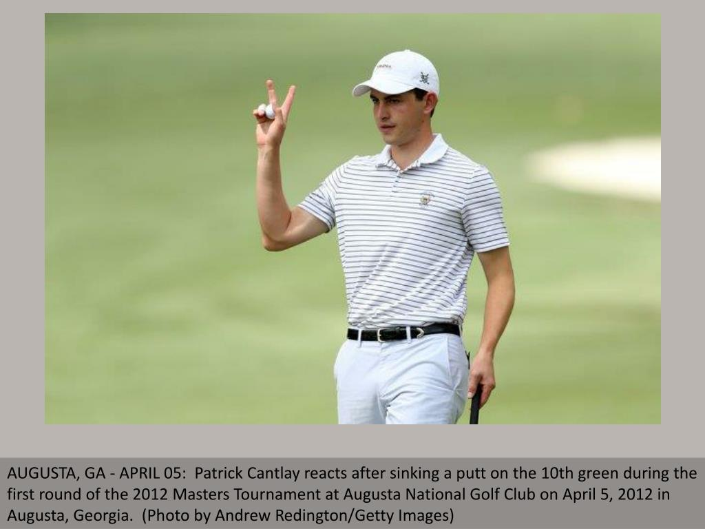 AUGUSTA, GA - APRIL 05:  Patrick Cantlay reacts after sinking a putt on the 10th green during the first round of the 2012 Masters Tournament at Augusta National Golf Club on April 5, 2012 in Augusta, Georgia.  (Photo by Andrew Redington/Getty Images)