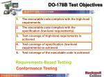 do 178b test objectives