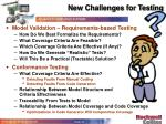 new challenges for testing