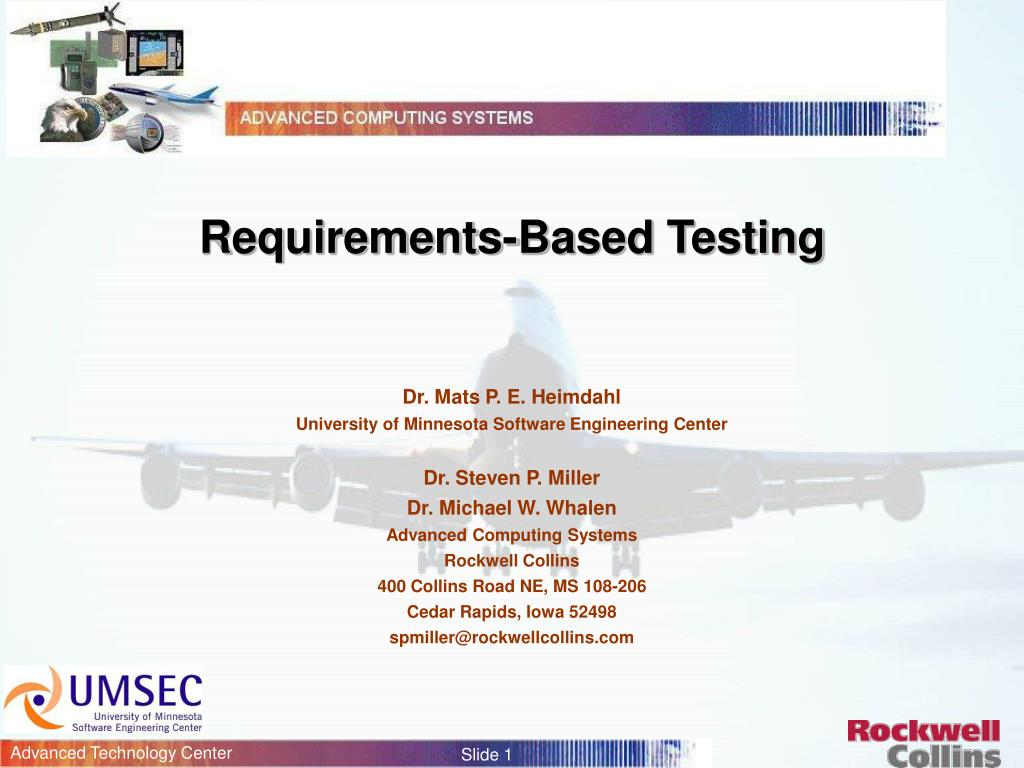 requirements based testing l.