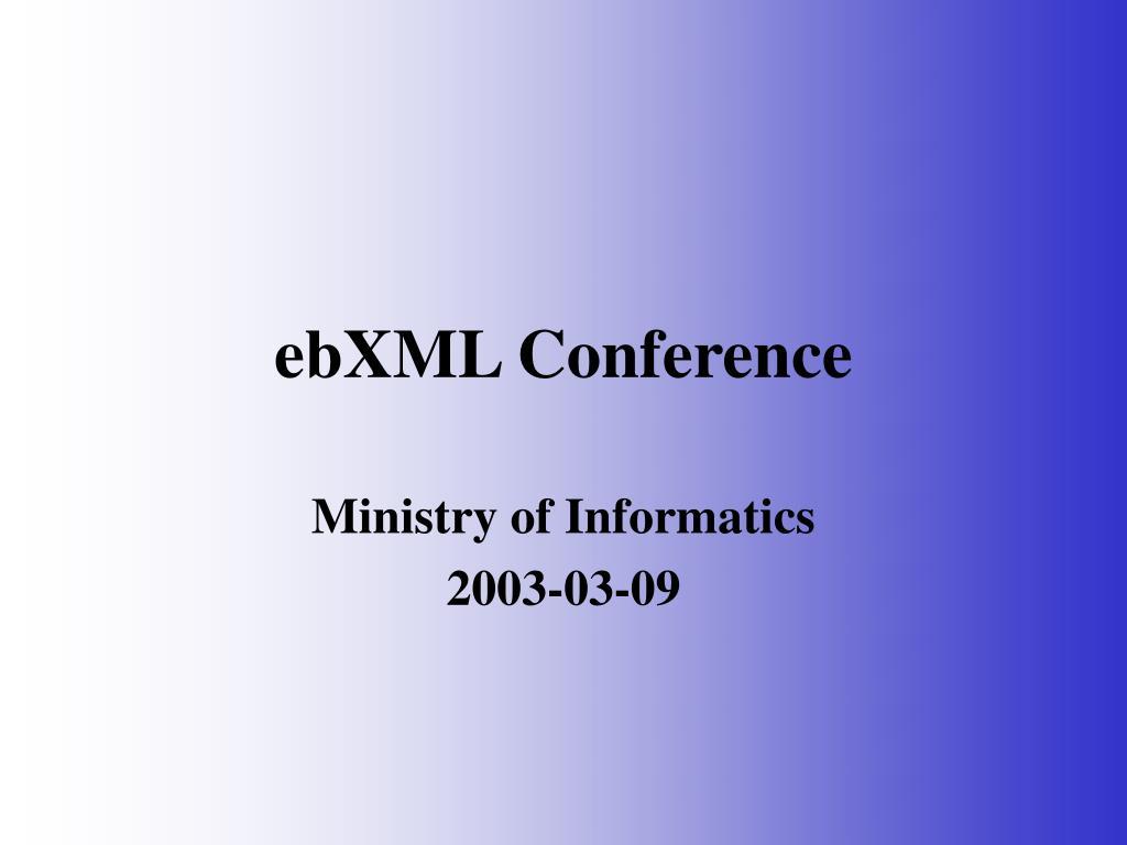 ebxml conference l.