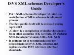 isvs xml schemas developer s guide