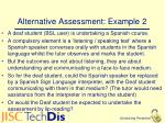 alternative assessment example 2