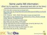 some useful ab information don t try to read this download and click on the links