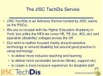 the jisc techdis service