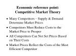 economic reference point competitive market theory