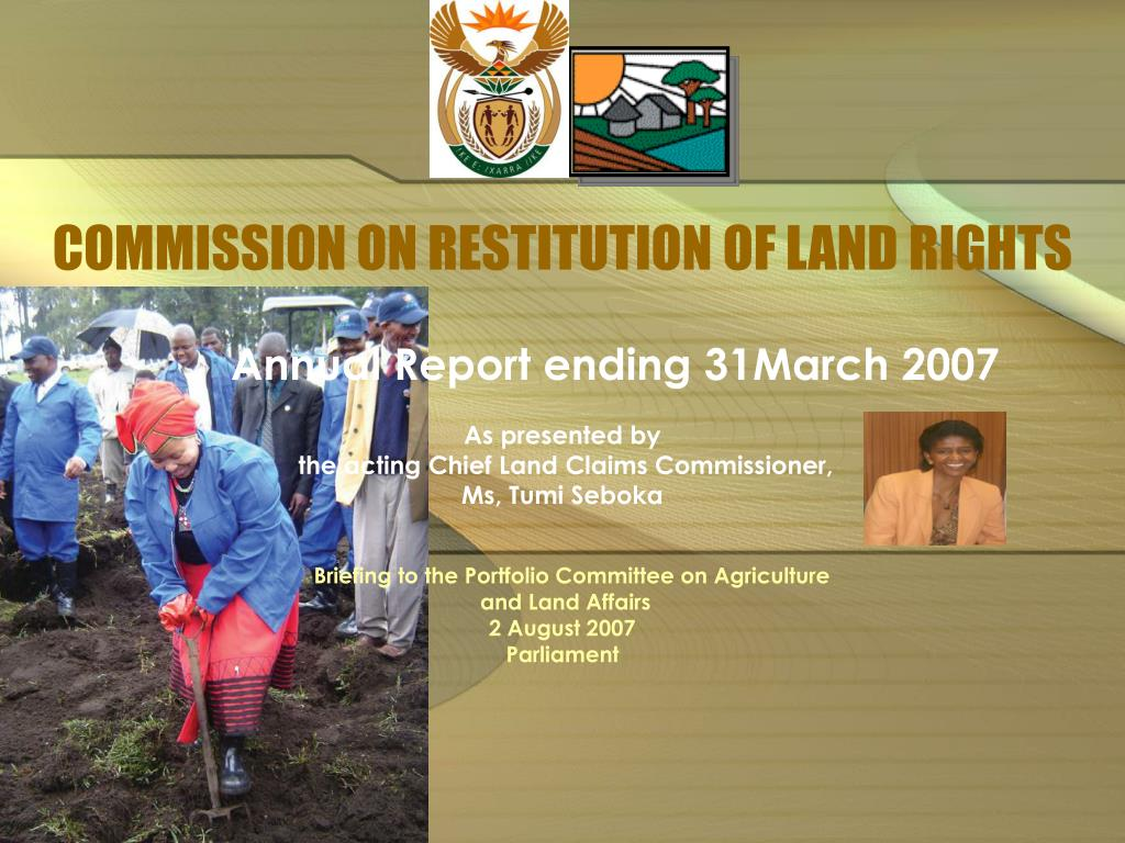 commission on restitution of land rights l.