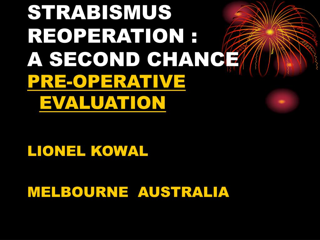 strabismus reoperation a second chance l.