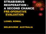 strabismus reoperation a second chance
