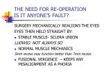 the need for re operation is it anyone s fault9