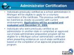 administrator certification1