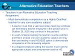 alternative education teachers