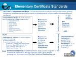 elementary certificate standards
