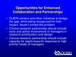 opportunities for enhanced collaboration and partnerships