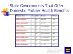 state governments that offer domestic partner health benefits