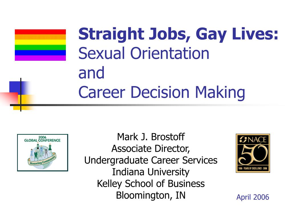 straight jobs gay lives sexual orientation and career decision making l.
