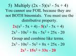 5 multiply 2x 5 x 2 5x 4