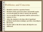 problems and concerns18