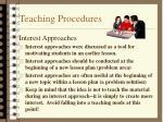 teaching procedures