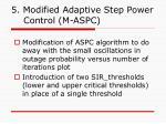 5 modified adaptive step power control m aspc