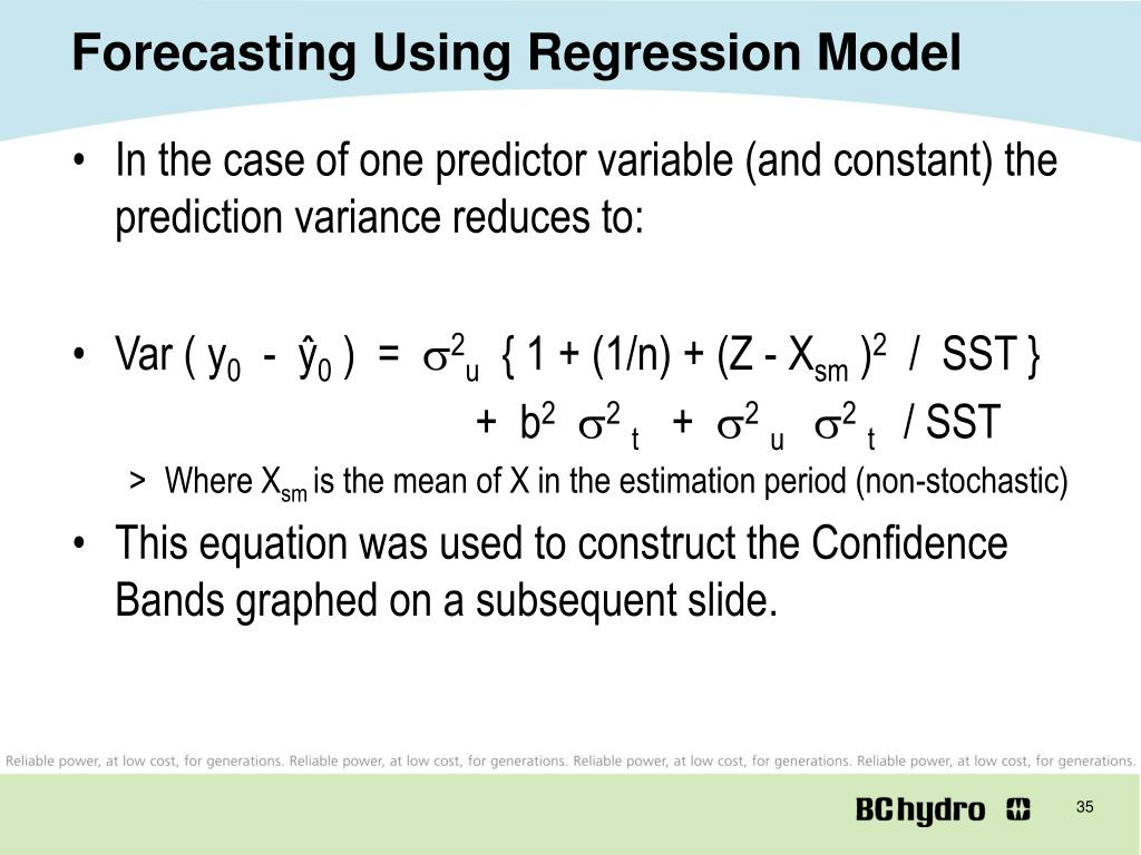 Forecasting Using Regression Model