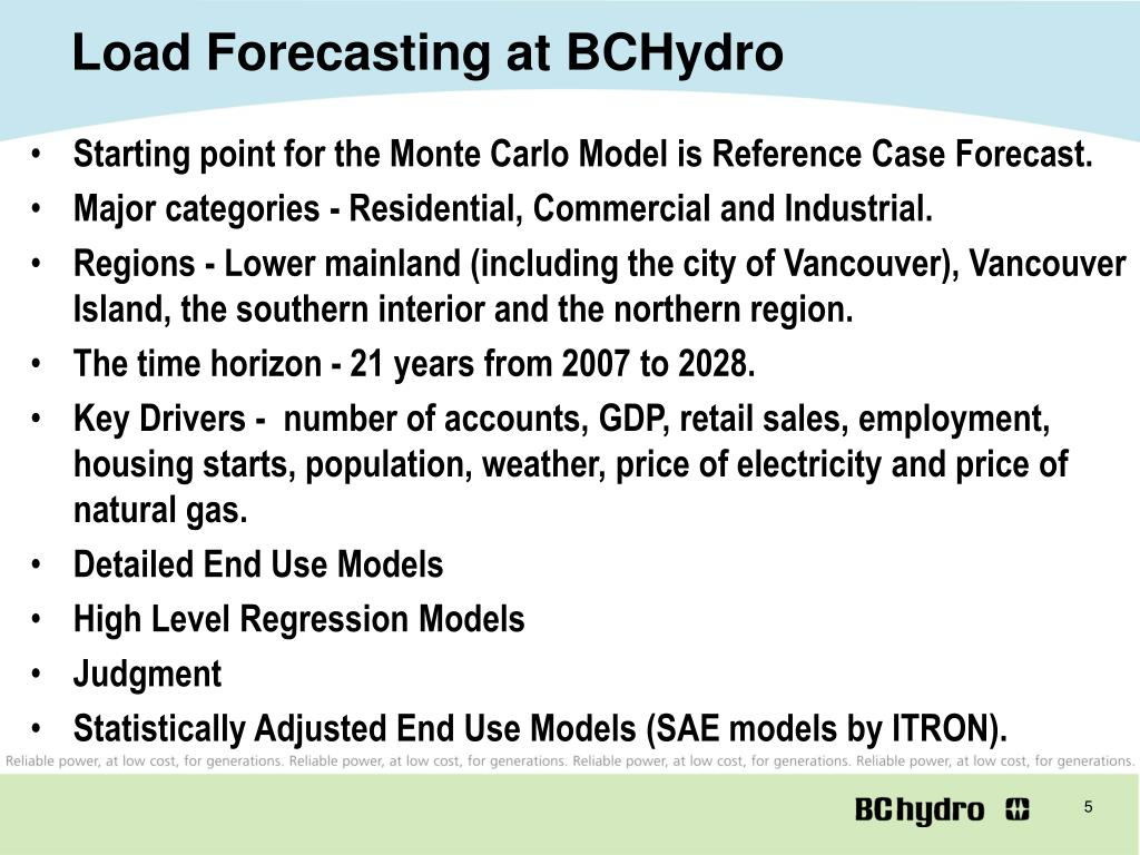 Load Forecasting at BCHydro