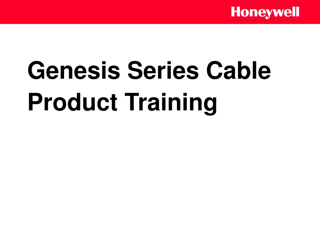 genesis series cable product training l.