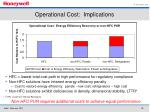 operational cost implications