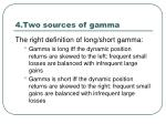 4 two sources of gamma