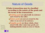 nature of goods