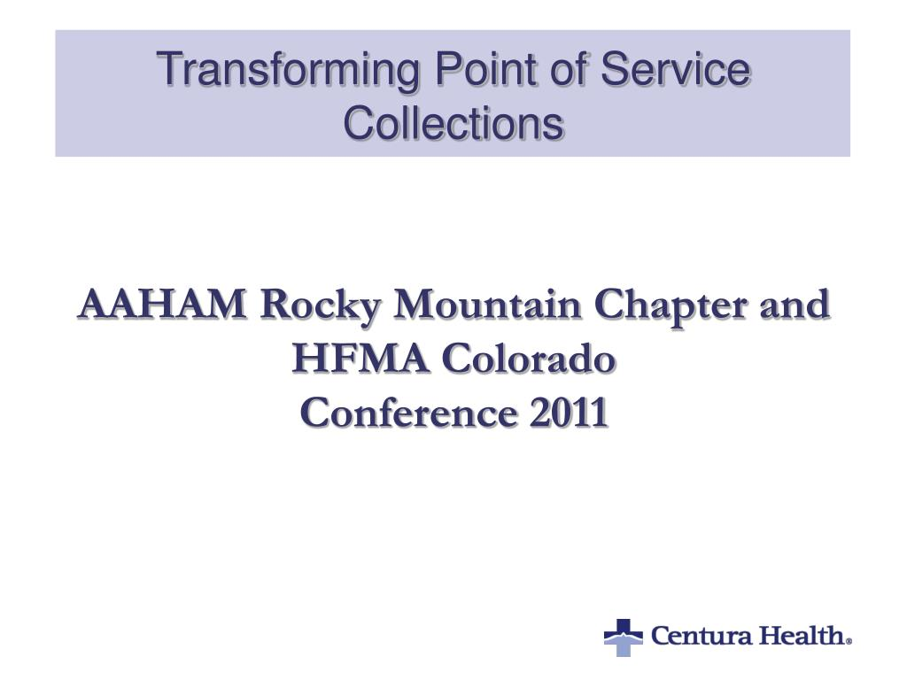 transforming point of service collections l.