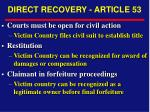 direct recovery article 53