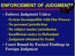 enforcement of judgments25