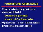 forfeiture assistance