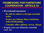 framework for forfeiture cooperation article 54