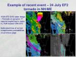 example of recent event 24 july ef2 tornado in nh me18