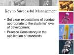 key to successful management