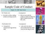 sample code of conduct