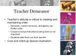 teacher demeanor