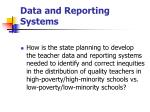 data and reporting systems