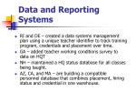 data and reporting systems12