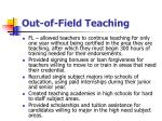 out of field teaching14