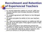 recruitment and retention of experienced teachers15
