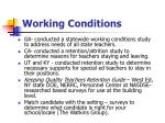 working conditions19