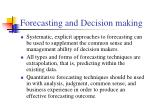 forecasting and decision making5