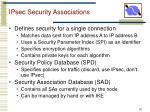 ipsec security associations