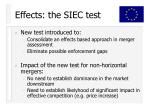 effects the siec test