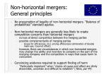 non horizontal mergers general principles
