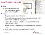local r archive networks
